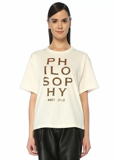 Philosophy Di Lorenzo Serafini Tişört Beyaz